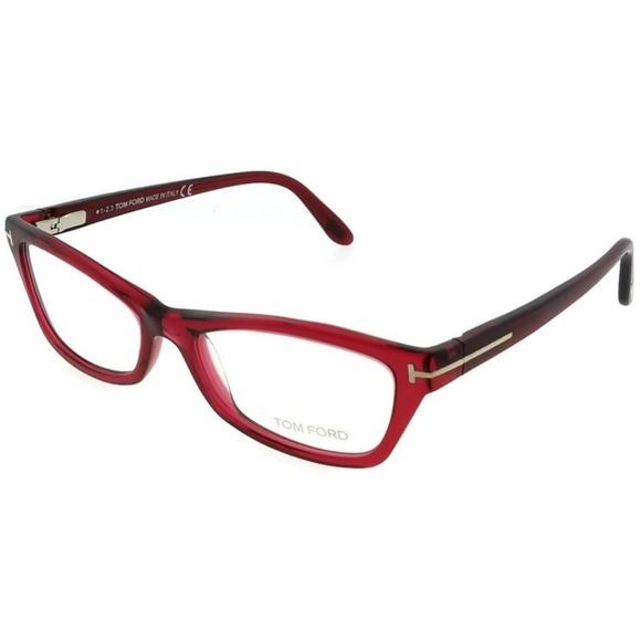 70a1ef8bb95e FT5265-068 Cat Eyes Women s Red Frame Eyeglasses